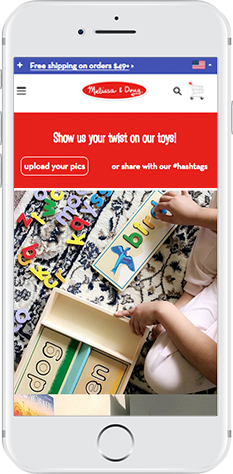 Melissa & Doug's Visual Commerce Content