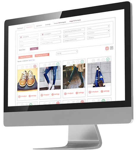 Visual commerce - Moderation