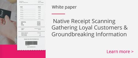 Native Recipt Scanning